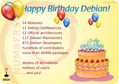 Debian 17th Birthday