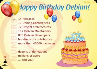 Debian Day, 17º aniversario