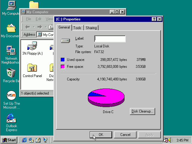 windows 98 boot up disk